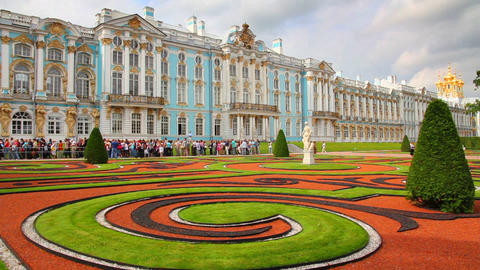 Catherine Palace in Pushkin, St. Petersburg Footage