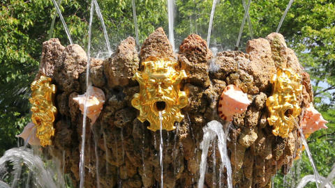 fountain detail in renovated Summer garden St. Pet Stock Video Footage