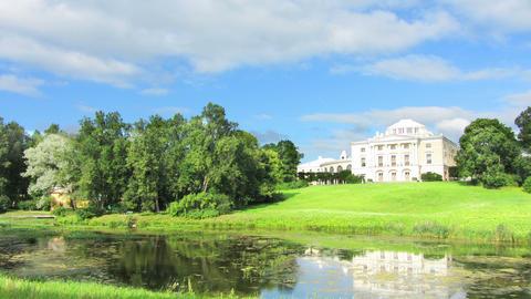 palace in Pavlovsk park St. Petersburg Russia - ti Stock Video Footage
