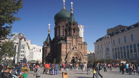 Harbin 11 St Sophia church Footage