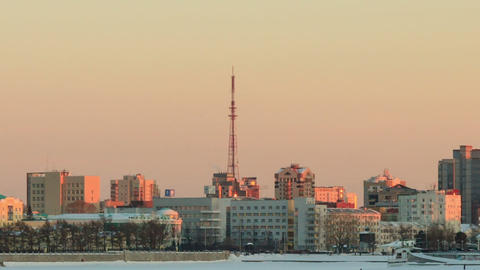 Around the TV tower. Russia, Yekaterinburg Footage