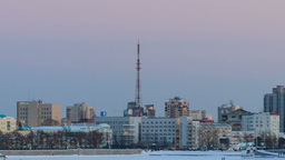 Around the TV tower. Russia, Yekaterinburg Stock Video Footage