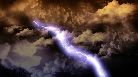 Lightning Thunderstorm with Rain Animation