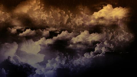 Lightning Thunderstorm with Rain Stock Video Footage