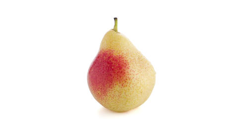 Single ripe pear Stock Video Footage