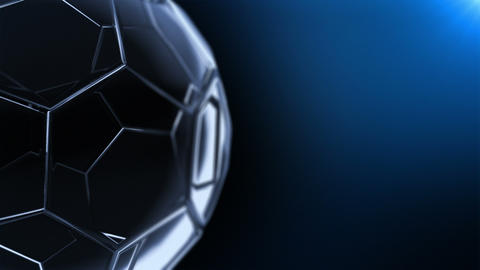 Glass Soccer Ball (background Cycle) V2 Animation