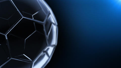 Glass Soccer Ball (background Cycle) V2 Stock Video Footage