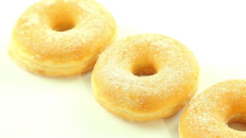 Donuts on white background Stock Video Footage