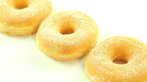 Donuts On White Background stock footage