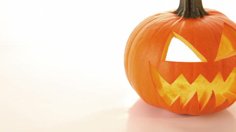Halloween pumpkin, scary horror - jack o lantern Stock Video Footage
