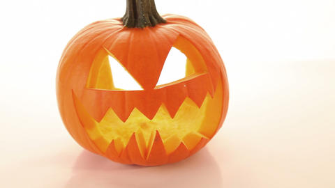 Halloween Pumpkin, Scary Horror - Jack O Lantern stock footage