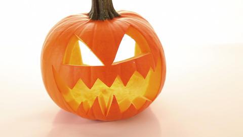 Halloween pumpkin, scary horror - jack o lantern Stock Video Footage