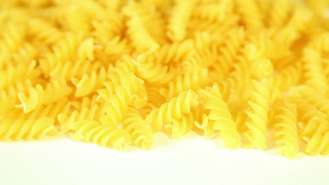 Macaroni on a white background Stock Video Footage