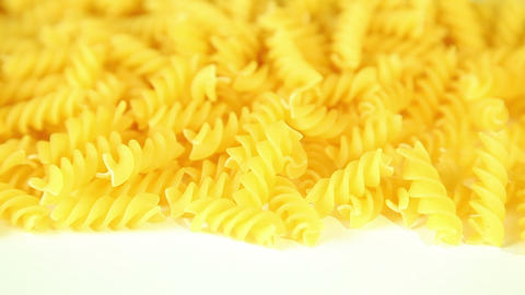 Macaroni on a white background Footage