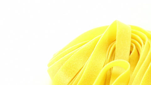 Italian pasta on white background Stock Video Footage