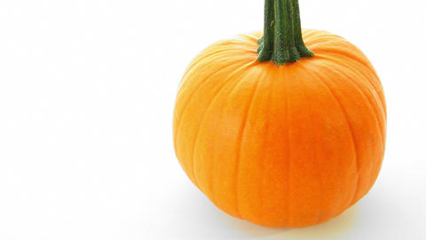 Pumpkin on white background Stock Video Footage
