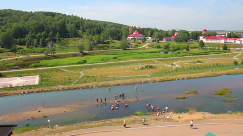 Spa resort Krasnousolsk in Russia Stock Video Footage