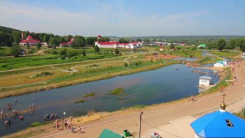Spa resort Krasnousolsk in Russia Stock Video Footage
