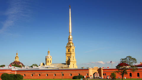 St. Peter and Paul fortress in Saint-Petersburg, R Footage