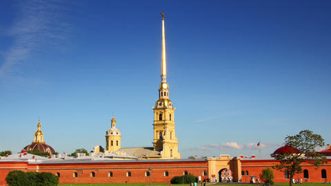 St. Peter and Paul fortress in Saint-Petersburg, R Stock Video Footage