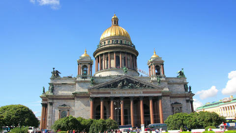 famous isaakiy cathedral in St. Petersburg Russia  Footage