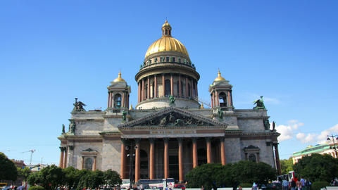 famous isaakiy cathedral in St. Petersburg Russia Stock Video Footage