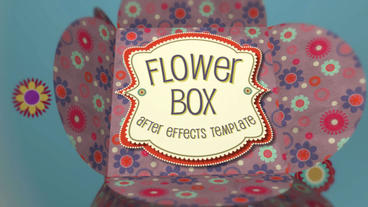 Flower Box Display template After Effects Template