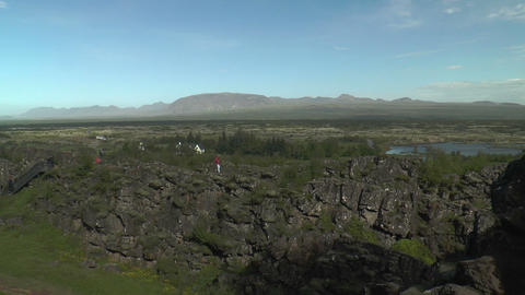 Þingvellir(Pingvellir, Thingvellir), National Par Stock Video Footage