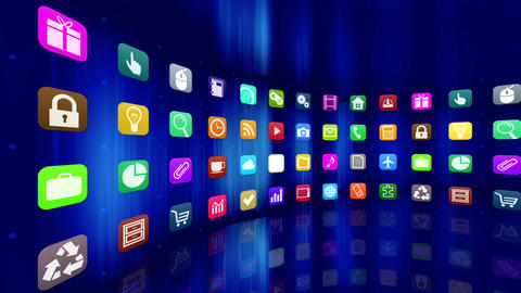 Smart Phone apps R Cc 1m 1 HD Stock Video Footage