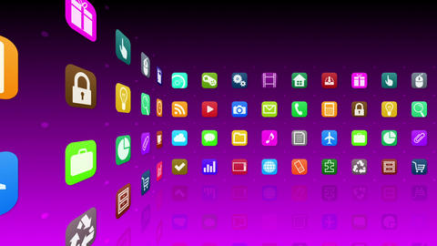Smart Phone apps R Cs 1m 1 HD Stock Video Footage