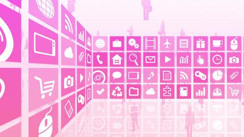 Smart Phone apps R Cs 3m 1 HD Stock Video Footage