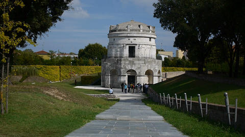 Teodorico Mausoleum Stock Video Footage