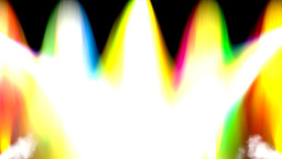 Colorful lights of light show Animation