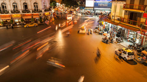 1080 - HANOI TIMELAPSE - HOAN KIEM DISTRICT Footage