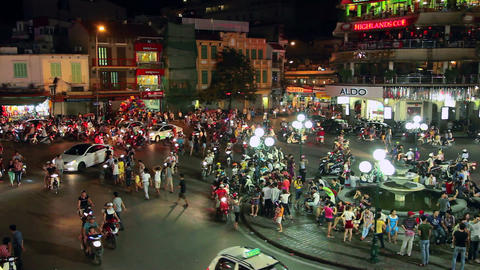 1080 - HANOI - HOAN KIEM DISTRICT Stock Video Footage