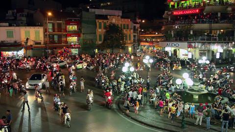 1080 - HANOI - HOAN KIEM DISTRICT Stock Video Footage