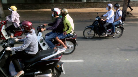 Ho Chi Minh CIty Traffic - Motion Tracking Stock Video Footage
