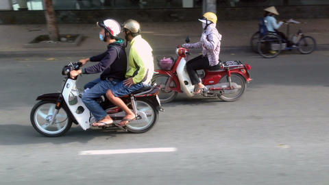 Ho Chi Minh CIty Traffic - Motion Tracking Footage