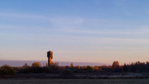 Dawn over the autumn landscape. Time Lapse Stock Video Footage
