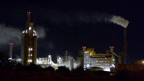 Chemical Factory stock footage