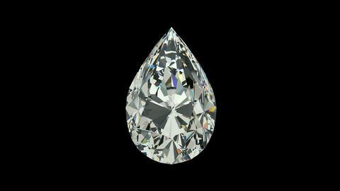 Pear cut diamond Animation