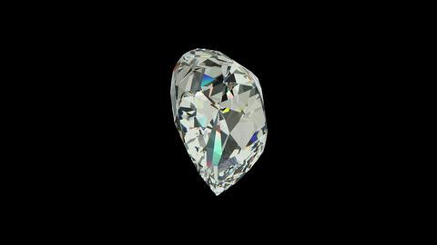 Pear cut diamond Stock Video Footage