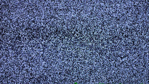 Television Channel With Noise (Snow) stock footage