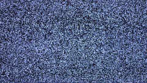 Television Channel With Noise (Snow) Stock Video Footage
