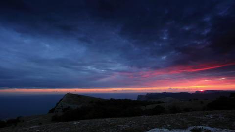 Timelapse sunset in the mountains Merdven-Kayasy Stock Video Footage