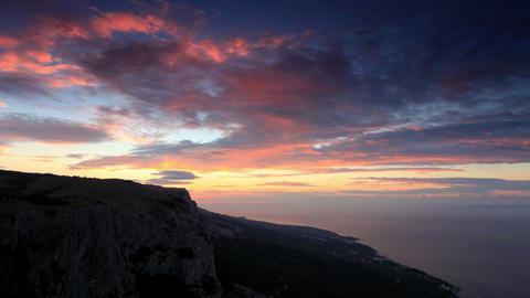 Timelapse sunrise in the mountains Merdven-Kayasy Stock Video Footage
