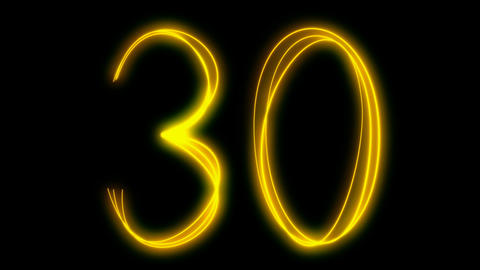 light painting countdown Animation