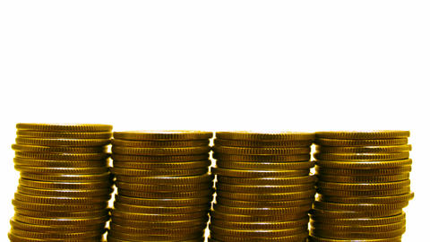 coins growth loss Stock Video Footage