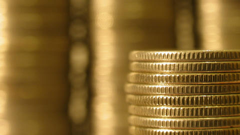 Coins Growth Loss stock footage