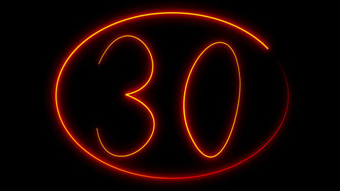 Light Painting Countdown stock footage